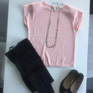 Vintage Pink Textured Blouse